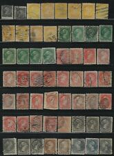 CANADA - SMALL QUEEN VICTORIA USED STAMPS LOT SHADES