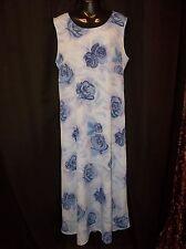 MAURICES Blue Rose Long DRESS  Junior Women's Size 13 Shift
