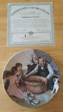 "Norman Rockwell Collectors Plate ""Halloween Frolic"" Heritage Collection"