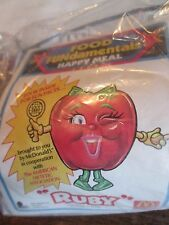 McDonalds HAPPY MEAL Toy RUBY Apple 1992 FOOD FUNDAMENTAL  SEALED NEW ( A- )