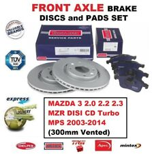 FOR MAZDA 3 2.0 2.2 2.3 MZR DISI CD Turbo MPS 2003-2014 FRONT BRAKE PADS + DISCS
