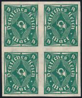 DR 1922, MiNr. 226 a U, Viererblock, sauber ungebraucht, Mi. 160,-