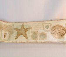 Sea Shell Metallic Gold Silver Tan Border Wall Paper Border 15'