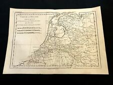 OLD MAP OF HOLLAND, Netherlands 1787
