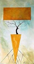 "Painting Original Fine Art OIL 32""x17"" Modern minimalism art Pronkin ""SUPPORT"""
