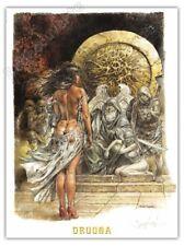 Affiche Serpieri Druuna Mandragora signée 30x40 cm