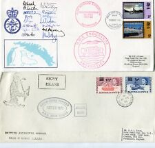 More details for british antarctic territory 1971-81 covers (10) inc signed