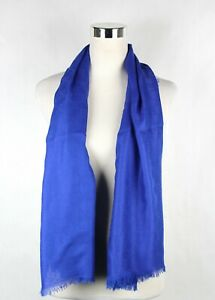 $485 New Authentic Gucci Large Royal Blue Shawl Scarf GG Print 307245 4300