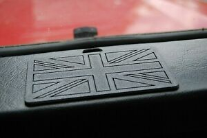 Land Rover Defender Ashtray Cover / Blanking Plate. Union Jack