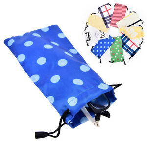 5x Sunglasses Bag Pouch Soft Cloth Cleaning Optical Glasses Case Accessory H-xd
