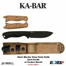 Ka-Bar #BK16 Short Becker Drop Point Knife, w/Zytel Handle, w/Cordura Sheath