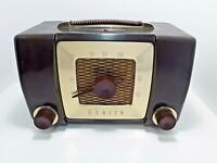 Vintage Zenith Bakelite Tube Radio Model H-615 Working Condtion with Defects