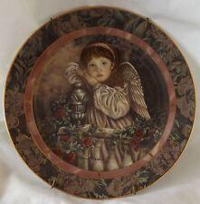 Bradford Exchange Hope Gardens of Innocence Child Angel Wall Hanging Plate