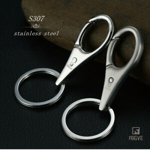 Stainless Steel Key chain Swivel Clasp Snap Hook Lobster Claw Clasps  FEGVE 1 x