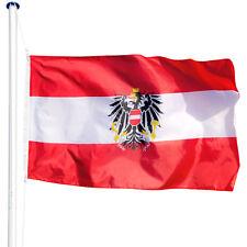 Mât de drapeau aluminium 625 cm drapeau Autriche avec kit jardin drapeaux blason
