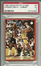 1987 GIGANTES DE LA NBA #3 KAREEM ABDUL JABBAR PSA 3