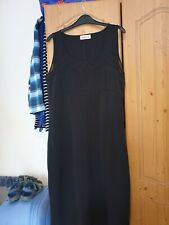 size 14 Kaleidoscope party pencil dress sleeveless sheer mesh to top black