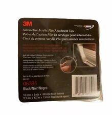 "3M 06384 1/2"" Black Automotive Acrylic Plus Double Sided Attachment Tape, 6384"