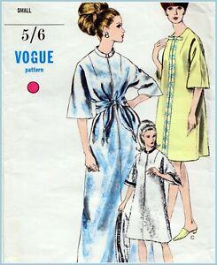 "RARE Vintage 60s KAFTAN DRESS Sewing Pattern Bust 32"" Sz 8 RETRO Evening CAFTAN"