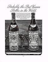 1930s BIG Original Vintage Martini Glass Bottle Mauro Art Print Ad