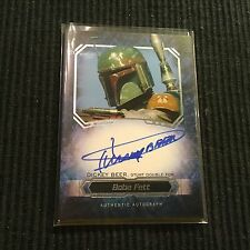 2016 TOPPS STAR WARS MASTERWORK DICKEY BEER STUNT DOUBLE FOR BOBA FETT AUTO