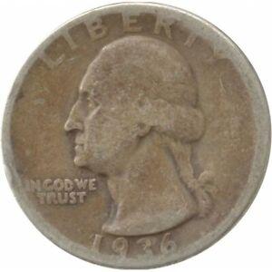AMERIQUE ( U.S.A ) QUARTER DOLLAR (1/4 DOLLAR) 1936 WASHINGTON QUARTER B+