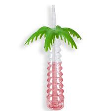 2x bouteille en plastique buvable Palmier avec paille 520ml enfants