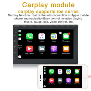 """7"""" Mirror Link For GPS 2Din Car Stereo Handsfree Touch Screen FM HD Radio AUX"""