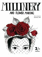 Millinery and Flower Making #1.12 c.1950 - Vintage Hat Making Instructions