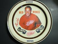 Gordie Howe Autographed Olympia Plate Beckett Authenticated