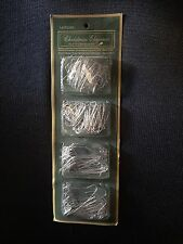 300 Christmas Ornament Hooks Tree Hangers Silver Metal Wire 100 Giant 200 Reg