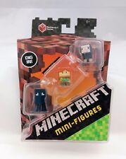 Minecraft Netherrack Series 3: Squid, Alex & Black Sheep Mini-Figures NIB