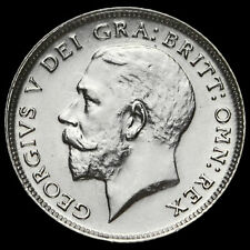 1925 George V Silver Sixpence, Narrow Rim, EF