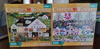 Lot of 2 Buffalo Puzzles Peppercricket Farms/Confection Street Charles Wysocki