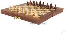 Juego De Ajedrez De Madera Plegable grandes piezas de juguete de regalo de placa de madera tablero de ajedrez FN