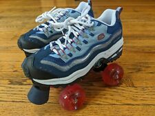 SKECHERS 4 WHEELERS Roller Skates Sport Girls size 4 Derby Shoes Purple Red