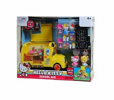 NEW Hello Kitty School Bus Playset classroom 6 figures