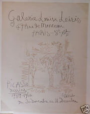 Picasso affiche poster lithographie 1960