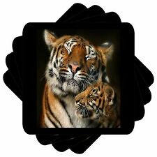 Tigers Set of 4 Square Coasters Bar Table