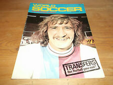 Football Magazine World Soccer November 1971 Tommy Booth Ron Saunders Norwich