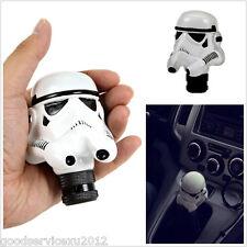 Cold Cast Resin 3D White Helmet Manual Transmission Car Gear Shifter Lever Knob