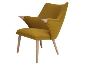 Danish design by MoNo Creativity, newly produced, wool fabric, oak wood