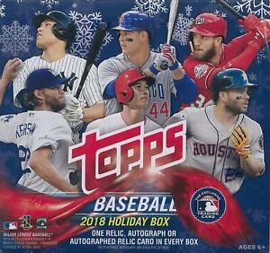 2018 Topps Holiday Baseball Mega Box Factory Sealed Unopened (Qty)