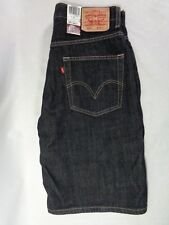 Levis 569 Men's Shorts Loose Straight Below Knee Black Denim Jeans Waist 31