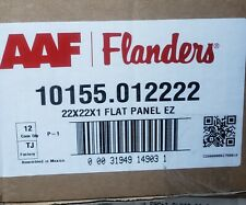 (12 Pack) Flanders Air Filter 22x22x1 Flat Panel Ez 10155.012222