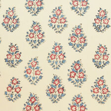"CLARENCE HOUSE Fabric ""OUI"" FRENCH RED/BLUE INDIENNE PIERRE FREY MSRP $219Y"