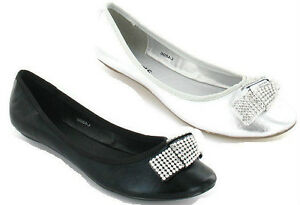 UPDATE DOLLY SHOES IN BLACK AND SILVER L4896 IDEAL EVERYDAY WEAR