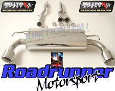 MILLTEK GOLF R32 MK4 EXHAUST DECAT & CAT BACK NON RES SYSTEM GT100 TAILS