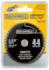RW9229 Rockwell 3-3/8-inch 44T HSS Versacut Circular Saw Blade