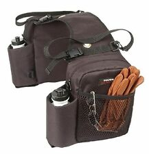 TOUGH 1 BROWN Trail Deluxe Heavy Duty Saddle BAG INSULATED Horse Tack